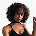 povoljno Perike s ljudskom kosom-Remy kosa Full Lace Lace Front Perika Asimetrična frizura Rihanna stil Brazilska kosa Afro Kinky Duboko kovrčava Natural Crna Perika 130% 150% Gustoća kose Nježno Klasični Žene Najbolja kvaliteta