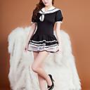 billige Sexede Uniformer-Dame Uniformer og kinesiske kjoler Nattøj - Lag-på-lag Farveblok