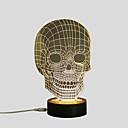 halpa Seinämaalaukset-1set 3D-yövalo Lämmin valkoinen USB Turvallisuus / Luova / Koristava 5 V Taiteellinen / LED