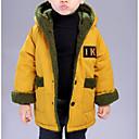 billige Jakker og frakker til gutter-Baby Gutt Aktiv Daglig Ensfarget / Geometrisk Langermet Normal Polyester Dun- og bomullsfôret Oransje