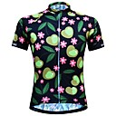 cheap Cycling Jersey & Shorts / Pants Sets-JESOCYCLING Women's Short Sleeve Cycling Jersey Black Floral Botanical Bike Jersey Top Breathable Moisture Wicking Quick Dry Sports 100% Polyester Mountain Bike MTB Road Bike Cycling Clothing Apparel