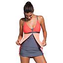 halpa Märkäpuvut, sukelluspuvut ja suoja-asut-Naisten Perus Olkaimellinen Oranssi Purppura Hame Bikini Uima-asut - Color Block XL XXL XXXL Oranssi / Seksikäs