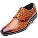 halpa Miesten Oxford-kengät-Miesten Muodolliset kengät Synteettinen 봄 & Syksy Vapaa-aika / Englantilainen Oxford-kengät Non-liukastumisen Musta / Viini / Keltainen / Juhlat / Juhlat / Comfort-kengät