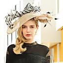 abordables Chapeau & coiffure-Lin Kentucky Derby Hat / Bandeaux avec Plume 1pc Mariage / Fête / Soirée Casque