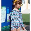 baratos Roupas de Banho para Meninas-Infantil Para Meninas Esportes Geométrica Algodão / Poliéster Roupa de Banho Azul