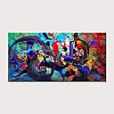 halpa Tulosteet-Hang-Painted öljymaalaus Maalattu - Abstrakti Moderni Ilman Inner Frame