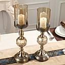 povoljno Svadbeni ukrasi-Suvremena suvremena Željezo Svijećnjaci Candelabra 2pcs, Držač svijeća / svijećnjak