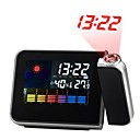 cheap Ceiling Lights-Digital LCD Screen Weather Station Forecast Calendar Projector Snooze Alarm Clock