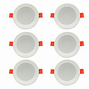 رخيصةأون إضاءات السقف LED-6PCS 5 W 360 lm 10 الخرز LED سهولة التثبيت في فجوة أضواء LED أبيض دافئ أبيض كول 220-240 V سقف المنزل / مكتب غرفة الجلوس / الضيوف