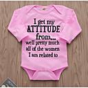 billige Babydrakter-Baby Jente Gatemote Daglig Trykt mønster Langermet Polyester Body Rosa