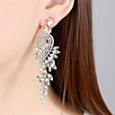 povoljno Naušnice-Žene Vedro Kubični Zirconia Izrezati Naušnica Naušnice Stilski Jewelry Zlato / Pink Za Vjenčanje Party 1 par