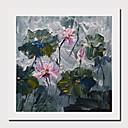 levne Abstraktní malby-Hang-malované olejomalba Ručně malované - Abstraktní Květinový / Botanický motiv Současný styl Moderní Obsahovat vnitřní rám