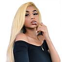 povoljno Perike s ljudskom kosom-Virgin kosa Full Lace Perika Minaj stil Brazilska kosa Ravan kroj Plavuša Perika 130% Gustoća kose 12-22 inch s dječjom kosom Najbolja kvaliteta Rasprodaja s isječkom Žene Srednja dužina Perike s