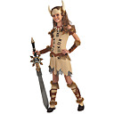cheap Movie & TV Theme Costumes-Pirate Viking Costume Movie Cosplay Beige Dress Headwear Wrist Brace Halloween Carnival Masquerade Polyster