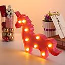 povoljno Sjenila-1pc Unicorn LED noćno svjetlo Toplo bijelo Kreativan <5 V