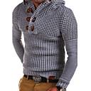 abordables Bague Homme-Homme Quotidien Couleur Pleine Manches Longues Normal Pullover Gris Foncé / Vert Véronèse / Gris Clair XL / XXL / XXXL