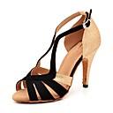 ieftine Pantofi Dans Latin-Pentru femei Sintetice Pantofi Dans Latin Cataramă / Strălucire / Despicare Sandale / Călcâi Subțire superioară Personalizabili Negru și Auriu / Performanță