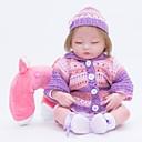 tanie Lalki Reborn-FeelWind Lalki Reborn Dziewczyna Lalki Dziewczynki 18 in Silikon Winyl - Jak żywy Ręcznie wykonane Śłodkie Dzieci / Nastolatek Nietoksyczne Dzieciak Unisex Zabawki Prezent