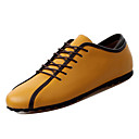 cheap Men's Oxfords-Men's Comfort Shoes Cowhide Spring Casual Oxfords Breathable White / Dark Blue / Yellow