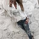 رخيصةأون الأزياء التنكرية التاريخية والقديمة-نسائي قميص نحيل قبعة القميص - أساسي أحرف أبيض XL / الربيع / الخريف