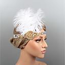 ieftine Set de Bijuterii-Pene Banderolele / Ornamente de Cap / Accesoriu de Păr cu Piatră Semiprețioasă / Cristal / Pene 1 piesă Nuntă / Party / Seara Diadema