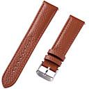 hesapli Saat Aksesuarları-Gerçek Deri / Deri / Buzağı Tüyü Watch Band kayış için Kahverengi 20cm / 7.9 İnç 1cm / 0.39 İnç / 1.2cm / 0.47 İnç / 1.3cm / 0.5 İnç