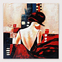 halpa Abstraktit maalaukset-Hang-Painted öljymaalaus Maalattu - Ihmiset Moderni Sisällytä Inner Frame