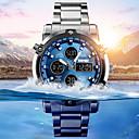 Недорогие Армейские часы-Муж. Спортивные часы Армейские часы электронные часы Цифровой Нержавеющая сталь Черный / Серебристый металл 30 m Защита от влаги Будильник Секундомер Аналого-цифровые На каждый день Мода -