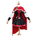 economico Parrucche cosplay anime-Ispirato da RWBY RUBY Anime Costumi Cosplay Abiti Cosplay Collage Manica lunga Top / Gonna / Accessori Per Per donna