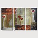 halpa Abstraktit maalaukset-Hang-Painted öljymaalaus Maalattu - Abstrakti Moderni Sisällytä Inner Frame / 3 paneeli