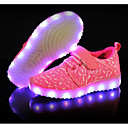 cheap Panties-Boys' / Girls' Shoes Knit Spring Light Up Shoes Sneakers Lace-up / Hook & Loop / LED for Toddler(9m-4ys) Black / Fuchsia / Pink / Rubber