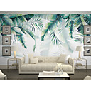cheap Rugs-Wallpaper / Mural Canvas Wall Covering - Adhesive required Art Deco / Trees / Leaves / 3D