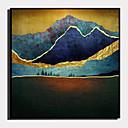hesapli Çerçeveli Resimler-Çerçeveli Tuval Çerçeve Seti - Soyut Manzara Plastik Çizim Duvar Sanatı