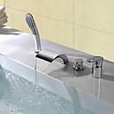 זול ברזים לחדר האמבטיה-ברז למקלחת / ברז לאמבטיה - עכשווי כרום חורים צדדיים שסתום קרמי Bath Shower Mixer Taps