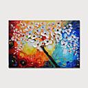 abordables Peintures à Fleurs / Botaniques-Peinture à l'huile Hang-peint Peint à la main - Abstrait A fleurs / Botanique Moderne Inclure cadre intérieur