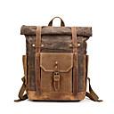 povoljno Školske torbe-Kravlja koža Patent-zatvarač Školska torba Putovanje Crn / Military Green / Kava / Muškarci