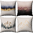 cheap Pillow Covers-4 pcs Cotton / Linen Pillow Case, Pattern Patterned Nature Inspired