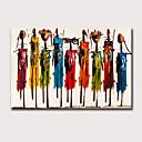 povoljno Apstraktno slikarstvo-Hang oslikana uljanim bojama Ručno oslikana - Sažetak Ljudi Klasik Moderna Bez unutrašnje Frame