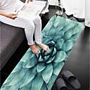 رخيصةأون سجاد-1PC زهري مماسح الحمام كورال فيلف طباعة زهور حمام مضاد للانزلاق / سهلة التنظيف