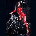 halpa Zentai-Zentai asut Kissapuku Ihon puku Moottoripyörä tyttö Aikuisten tekonahka Lateksi Cosplay-asut Trikoot Naisten Punainen Yhtenäinen Halloween Karnevaali