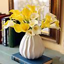 abordables Fleurs Artificielles-Fleurs artificielles 10 Une succursale Classique Européen Style Simple Calla Lily Fleur de Table