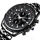 cheap Men's Boots-Men's Dress Watch Aviation Watch Quartz Stainless Steel Black Shock Resistant Casual Watch Analog Luxury Word Watch - Black One Year Battery Life