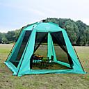 رخيصةأون مفارش و خيم و كانوبي-Sheng yuan 5 شخص خيمة للشاطئ خيمة التخييم العائلية في الهواء الطلق ضد الهواء التنفس إمكانية طبقة واحدة خيمة التخييم 1500-2000 mm إلى شاطئ Camping / Hiking / Caving تنزه (البولي يورثين) PU 300*300*220