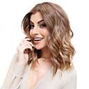 Χαμηλού Κόστους Συνθετικές περούκες χωρίς σκουφί-Συνθετικές Περούκες Κυματομορφή Σώματος Στυλ Μέσο μέρος Χωρίς κάλυμμα Περούκα Μεσαίο Καφέ / Σκούρο Auburn Συνθετικά μαλλιά 14 inch Γυναικεία νέος Σκούρο καφέ χρυσό ξανθό Ombre Περούκα Μεσαίου Μήκους