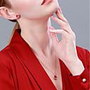 halpa Muotikaulakorut-Naisten Kaulakoru S925 Sterling Hopea Ruusun punainen 40+3 cm Kaulakorut Korut 1kpl Käyttötarkoitus Syntymäpäivä mielitietty