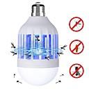 halpa Koristevalot-BRELONG® 1kpl 15 W LED-pallolamput 120 lm E26 / E27 12 LED-helmet SMD 2835 Hyönteisten Mosquito Fly Killer Valkoinen Violetti 220 V