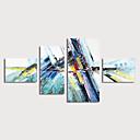 halpa Abstraktit maalaukset-Hang-Painted öljymaalaus Maalattu - Abstrakti Moderni Sisällytä Inner Frame / 4 paneeli