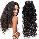 billige Parykker af ægte menneskerhår-4 pakker Indisk hår Vand Bølge Jomfruhår Menneskehår, Bølget Bundle Hair Én Pack Solution 8-28inch Naturlig Farve Menneskehår Vævninger Nuttet Moderigtigt Design Gave Menneskehår Extensions Dame