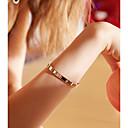 رخيصةأون ساعات سوار-نسائي أساور الصلب التيتانيوم بسيط سوار مجوهرات ذهبي روزي من أجل عيد ميلاد هدية مناسب للبس اليومي الفالنتاين ، عيد الحب