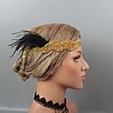 hesapli Parti Başlıkları-Tüyler Headbands / Baş Süsü / Başlık ile Taşlı / Kristal / Tüy 1 parça Düğün / Parti / Gece Başlık